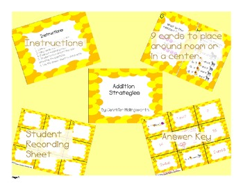 Review the Room Addition Strategies Math Center