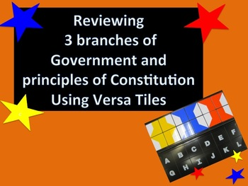 Reviewing 3 Branches of Gov't & Principles of Const't usin