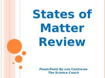 Reviewing States of Matter
