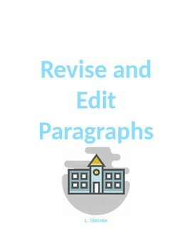 Revise and Edit Paragraphs
