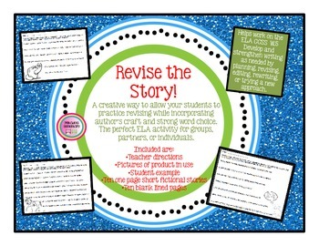 Revise the Story: TEN one-page stories for revisions & fig