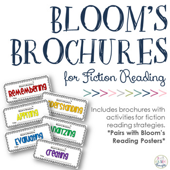 Revised Bloom's Taxonomy Brochures {Fiction}