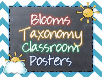 Revised Bloom's Taxonomy Classroom Posters {Chalkboard and
