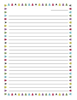 Revised Six Thinking Hats Writing Paper Border with Lines