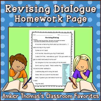 Revising Dialogue Homework Sheet {FREE}