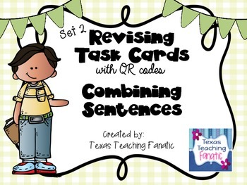 Revising Task Cards with QR Codes: Combining Sentences Set 2