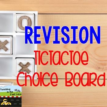 Revising TicTacToe Choice Board