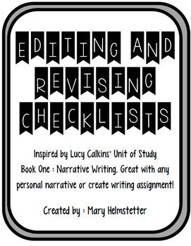 Revising and Editing Checklists