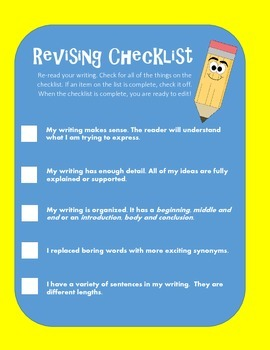 Revising and Editing Checklists