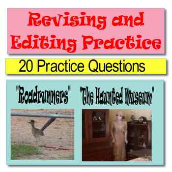 """Revising and Editing Practice Passages, """"Roadrunners"""" and"""