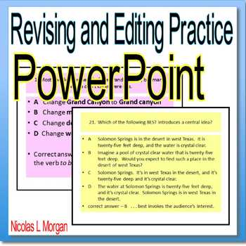 Revising and Editing Practice PowerPoint
