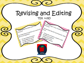 Revising and Editing Task Cards TEKS 4.15D