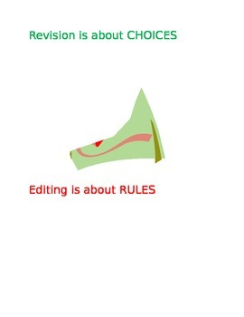 Revising vs. Editing