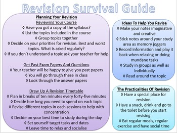 Revision Survival Guide