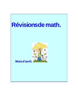 Révisions de math Avril - Math daily review