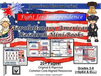 Revolutionary Americans Research Mini-Book Activity Common Core