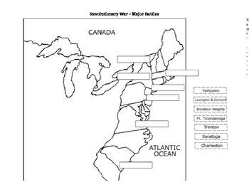 Revolutionary War Battle Map