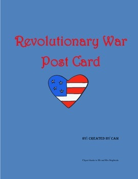 Revolutionary War Postcard