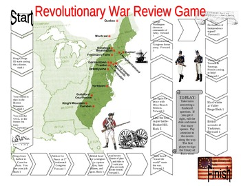 Revolutionary War Review Gameboard