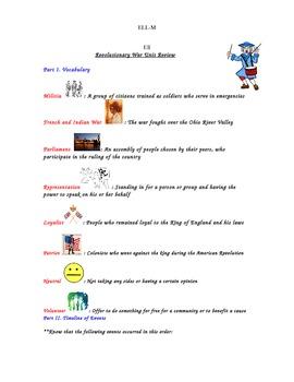 Revolutionary War Study Guide