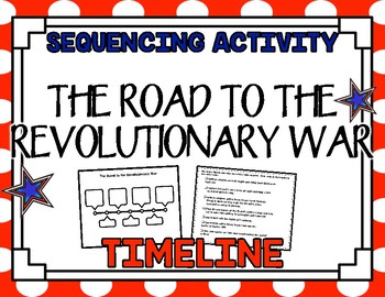 Revolutionary War Timeline- Sequencing Activity