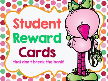Reward Cards....That don't break the bank! *EDITABLE*