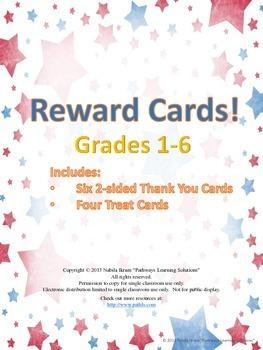 Reward Cards for Grades 1-6