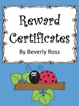 Reward Certificates for Elementary