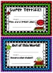 Reward Certificates for Students: Reading Themed (Editable)