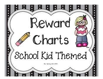 Reward Charts - School Kid Themed