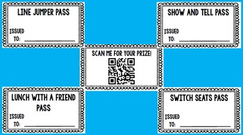 Reward Coupon Prizes With QR Code Cards