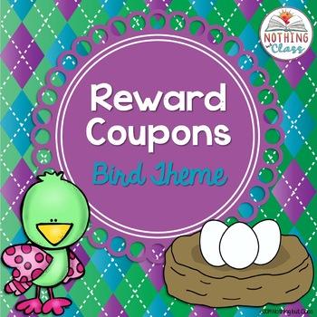 Reward Coupons: Bird Theme