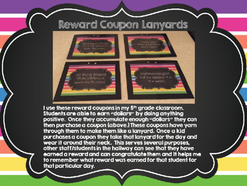 Reward Coupons Classroom Management PBS