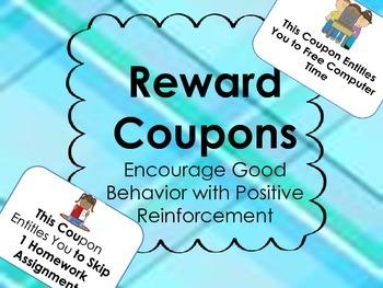 Reward Coupons - Positive Reinforcement Behavior Managemen