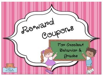 Reward Coupons for Excellent Behavior & Grades