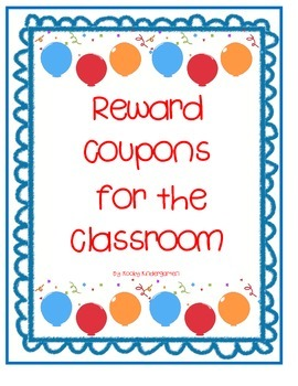Reward Coupons for the Elementary Classroom