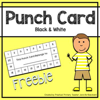 Reward Punch Card
