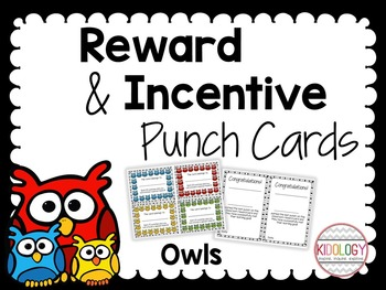 Reward and Incentive Punch Cards - Positive Behavior Rewar