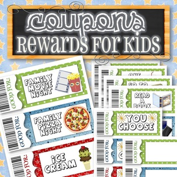 Reward/Gift Coupons for Kids - INSTANT DOWNLOAD