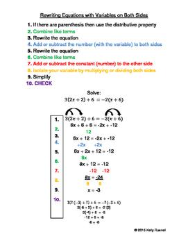 Rewriting Equations