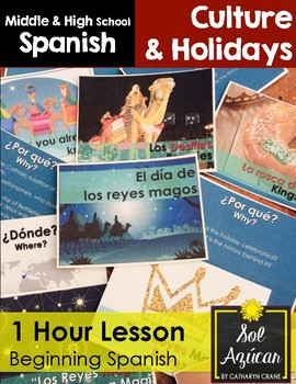 Reyes Magos 1 Hour Lesson - Beginning Spanish Middle & Hig