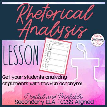 Rhetorical Analysis-Analyzing an Author's Argument