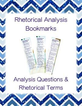 Rhetorical Analysis Bookmarks