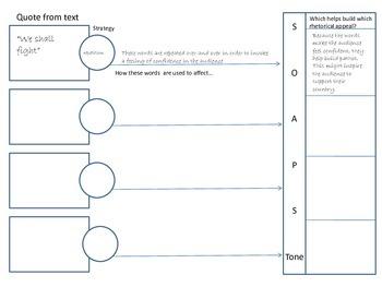 Rhetorical Analysis Graphic Organizer AP Language ppt version