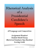 Rhetorical Analysis of a Presidential Candidate's Speech;