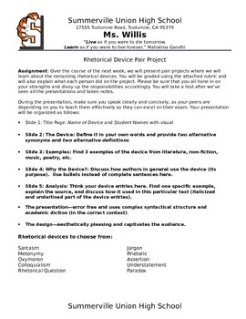 Rhetorical Device Group Project