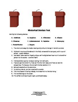 Rhetorical Devices Quiz