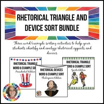 Rhetorical Triangle and Device Sort Bundle: Rhetorical App