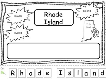 Rhode Island Read it, Build it, Color it Learn the States