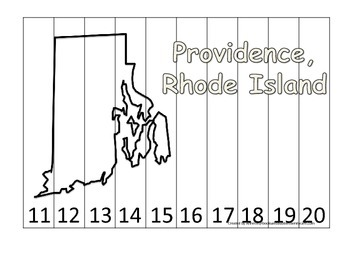 Rhode Island State Capitol Number Sequence Puzzle 11-20.